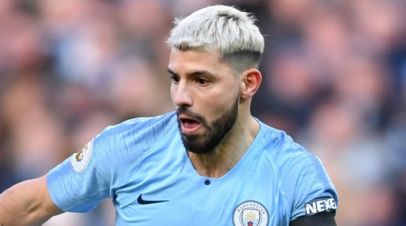 Man City striker, Sergio Aguero involved in a car crash on his way to training (Photos)