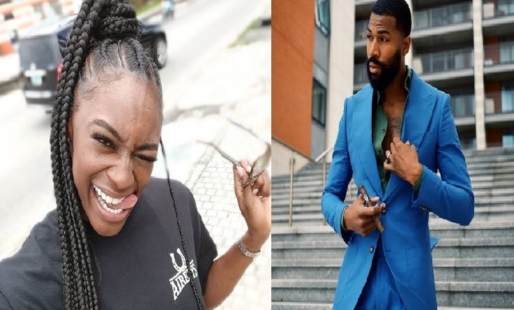 BBNaija, Mike Edwards and Wife, Perri announces gender of their unborn baby at a party (Video)