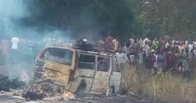 BREAKING: 13 killed as passenger bus catches fire