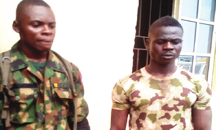 Fake soldiers arrested by Police