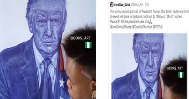 'You Are A Wonderful Artist,' Trump Celebrates Nigerian Who Painted His Portrait