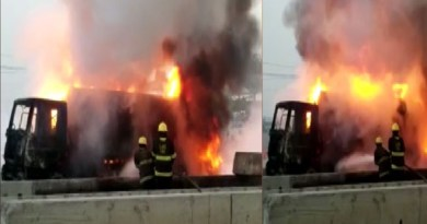 Diesel taker bursts into fire along Badagry expressway, Lagos