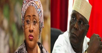 Aisha Buhari reacts, as Atiku's son tests positive for coronavirus