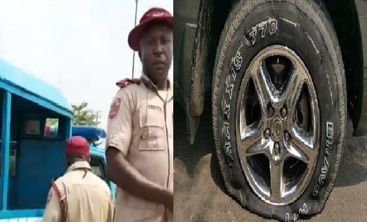 FRSC officials allegedly puncture tyre of car taking pregnant woman in labour to hospital