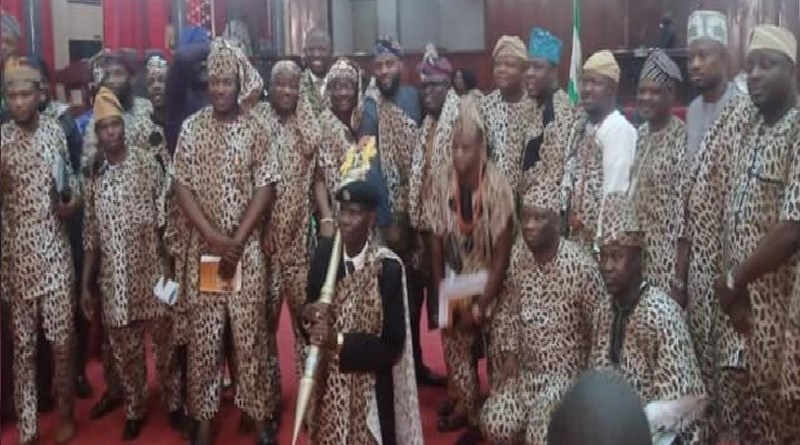 Is it illegal for Oyo lawmakers to wear Amotekun branded outfits?