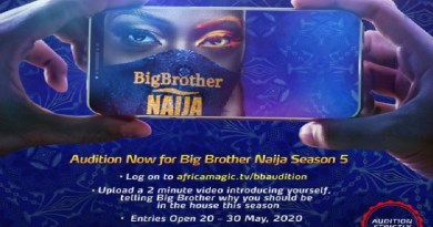 #BBNaija Season 5 Is Here! See how to register for Audition of Big Brother Naija 2020 Edition