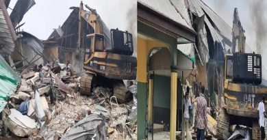 Happening Now: Wike demolishes Prodest hotel for flouting lockdown order (Photos)