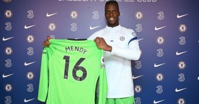 Mendy's jersey number