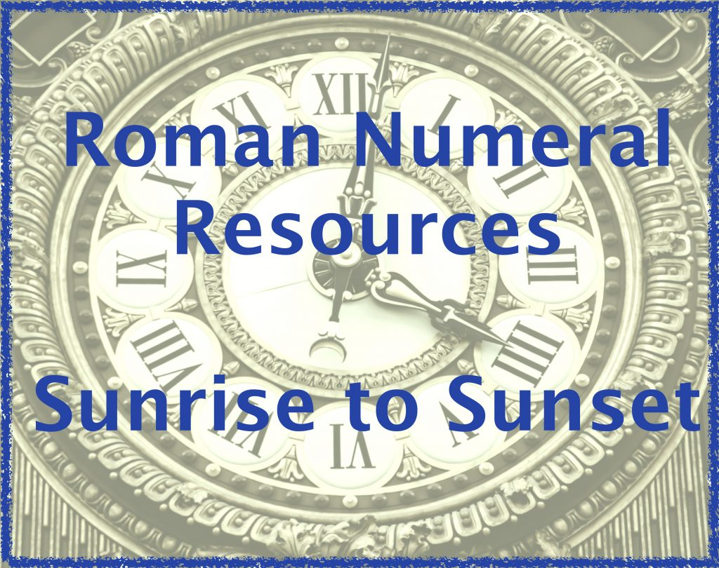 Roman Numeral Worksheet Middle School