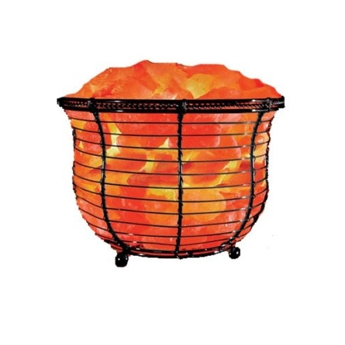 Natural Solution Himalayan Salt Tall Basket Lamp