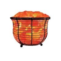 Natural Solution Himalayan Salt Tall Basket Lamp