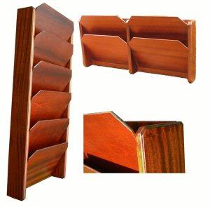 Handmade Mahogany-File-Racks