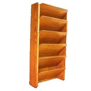 Large wood file rack in Oak