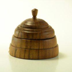 turned box in apple wood