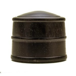 Hand turned lidded box in ebony
