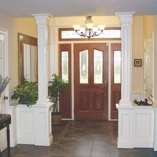 Wainscot opening in Foyer
