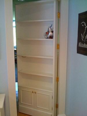 Secret Bookcase Door - Open