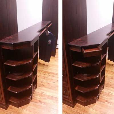 Shelf Cabinet with secret Drawer