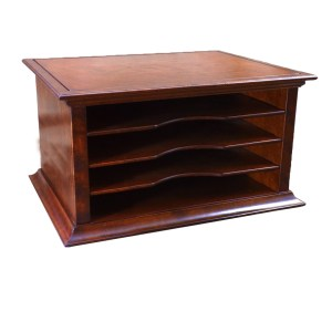 Hardwood File sorter in Cherry with 4 Bays