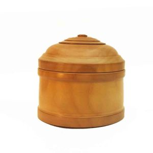 Lidded Box turned from Pear Wood