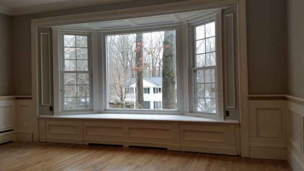 Baseboard Heat Concealed in Window Seat