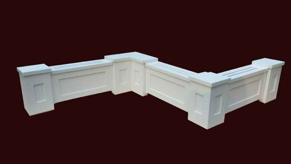 Custom Baseboard Heater Cover with Panels