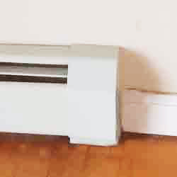 Baseboard Heater Cover - End Detail Closed