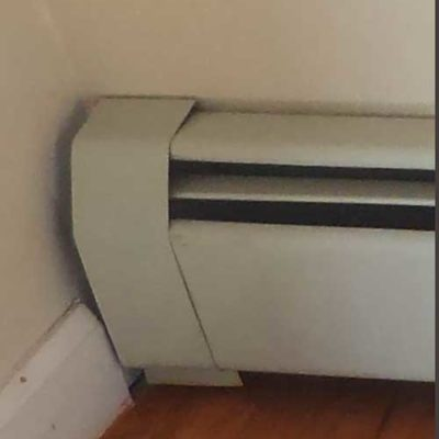 Typical Metal Baseboard Heater Cover