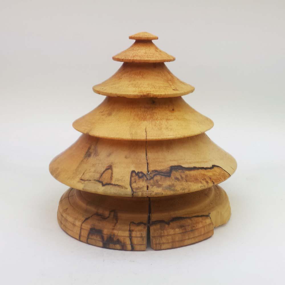 Wood Christmas Tree in Spalted Maple – Item 510   Sunrise ...
