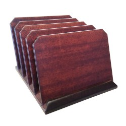 10 inch Hardwood Desktop folder sorter