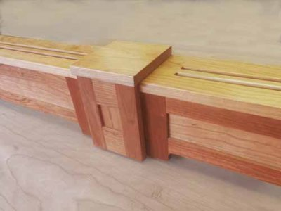 Paneled Wood Baseboard Heater Cover in Cherry