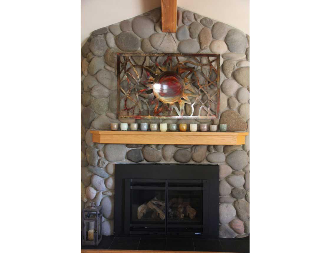 SMW248 Custom Metal Home Decor Wall Art Sun Panel