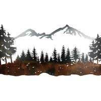 SMW324 Custom Metal Wall Art Sisters Mountain Landscape ...