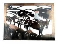 SMW175 Custom Metal Wall Art Mule Packing - Sunriver Metal ...