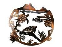 SMW257 Custom Metal Wall Art Marine Sea Turtle - Sunriver ...