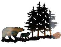 SMW301 Custom Metal Rustic Decor Wall Art Forest Bears
