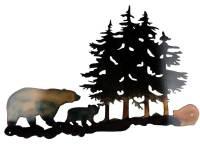 SMW301 Custom Metal Rustic Decor Wall Art Forest Bears ...