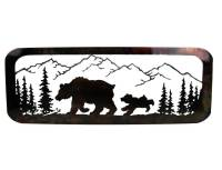 SMW377 Custom Metal Wilderness Bear Wall Art