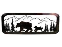 SMW377 Custom Metal Wilderness Bear Wall Art - Sunriver ...