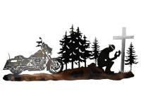 SMW465 Custom Metal Decor Motorcycle Biker Prayer Wall Art ...