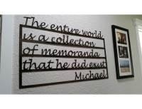 SMW533 Custom Metal Decor Word Memorial Wall Art ...