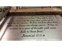 SMW568 Custom Metal Scripture Word Art - Sunriver Metal Works