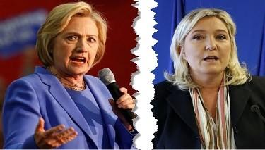 Marine Le Pen: Hillary Clinton Savaş Demektir