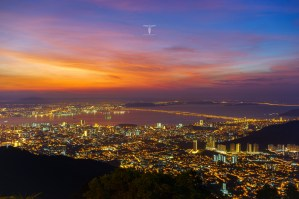 Fiery Dawn Upon George Town