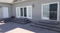 Decorative concrete patio & steps