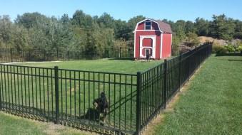 New aluminum fencing