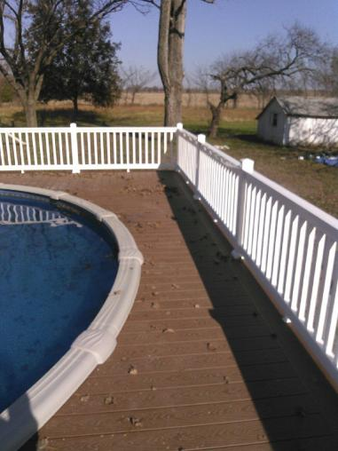 Custom deck and railing