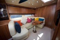 Her uphustrly is light and bright creating a spacious feel to the interior
