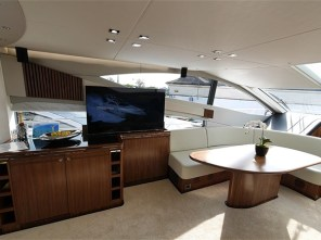 The new owners are looking forward to relaxing in their new saloon