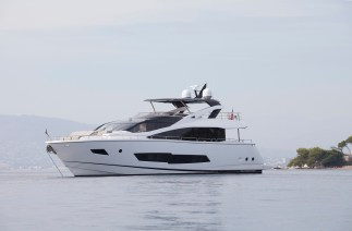 'COLUMBUS' the Sunseeker 86 Yacht is asking £3,895,000 tax paid